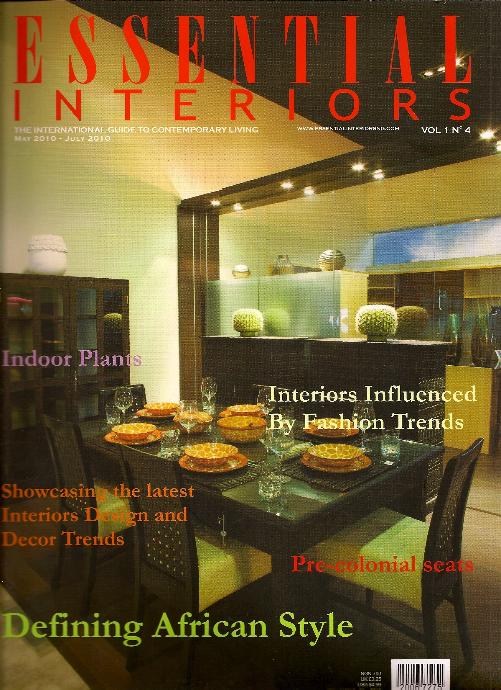 Essential Interiors Magazine Is Nigerias First Interior Design The Magazines Editor In Chief Titi Ogfere Head Of At